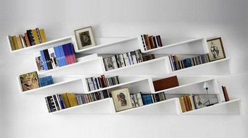 фото дизайн книжных полок