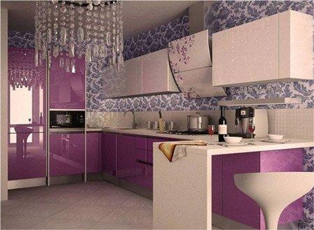 Фиолетовые оттенки в интерьере