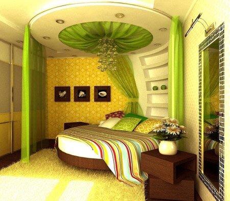 Светло зеленый интерьер