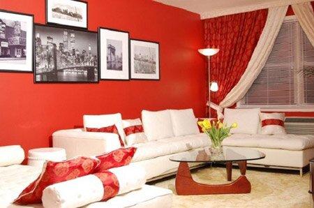 Красный цвет и его оттенки в интерьере. Фото интерьера в красных тонах