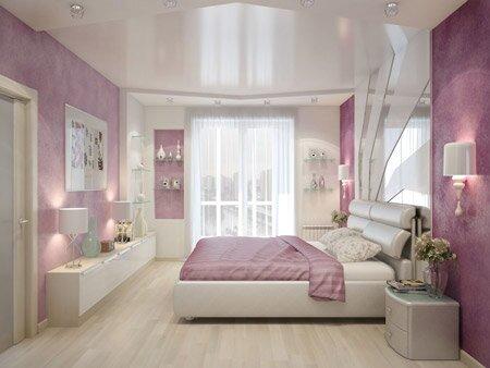 дизайн спальни в розовых тонах фото