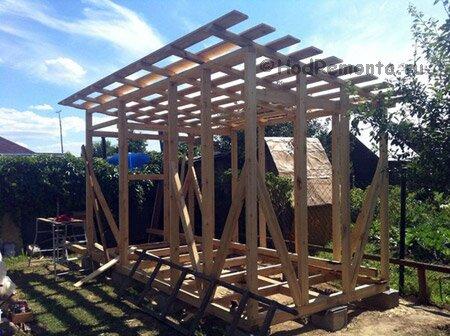 построить сарай с односкатной крышей все слова