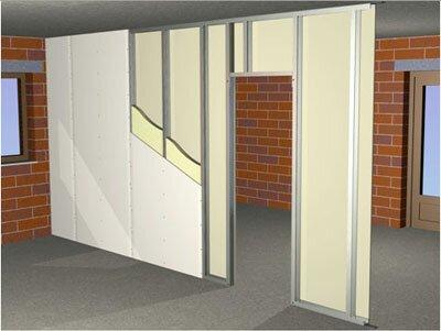 Naprava za notranje predelne stene