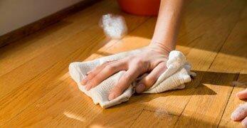 чистим пол перед покраской